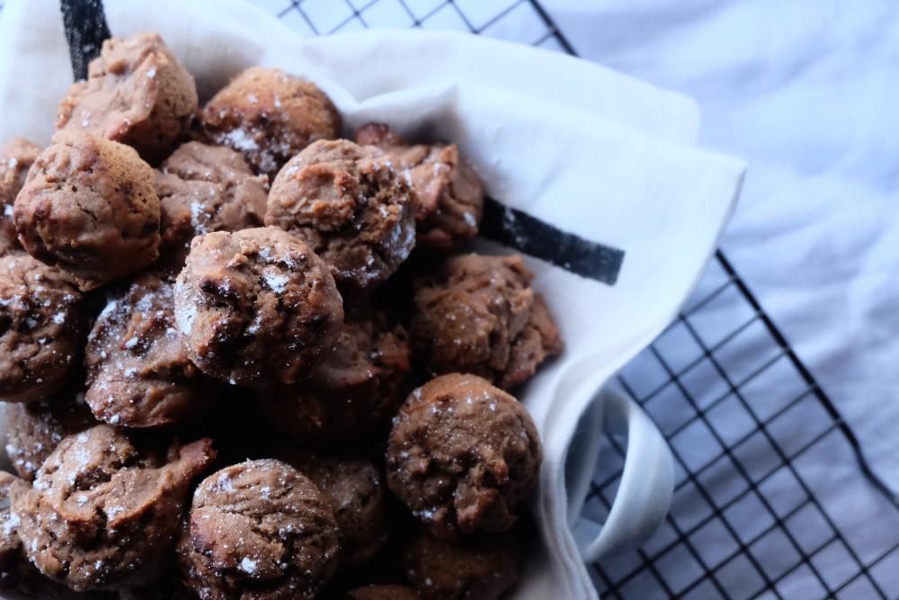Banana and walnut mini muffins