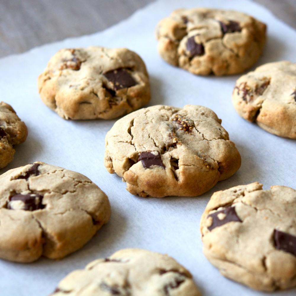 Dark Chocolate & Fig Teff Cookies