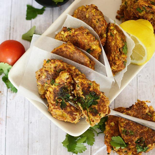 Spiced Carrot And Chickpea Fritters