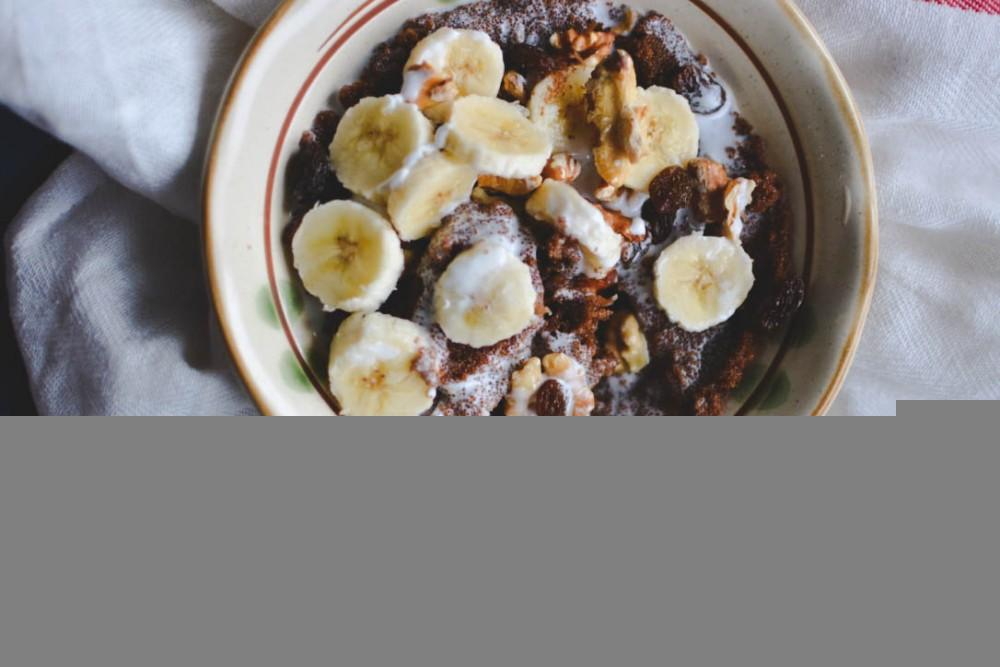 Teff Banana And Walnut Porridge