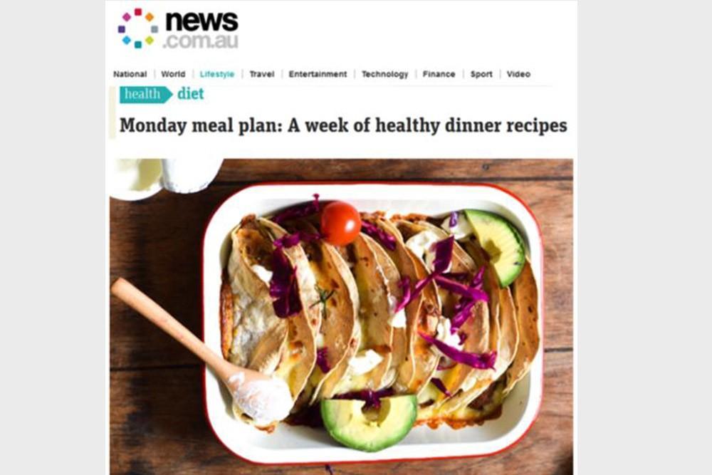 teff tribe NEWS.COM.AU - Lorna Jane's Weekly Meal Plan