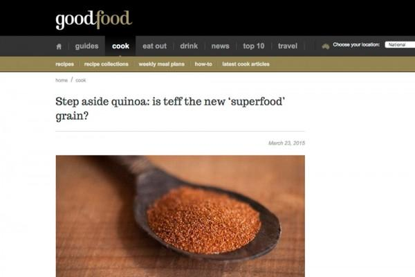 Step aside quinoa: is teff the new 'superfood' grain?