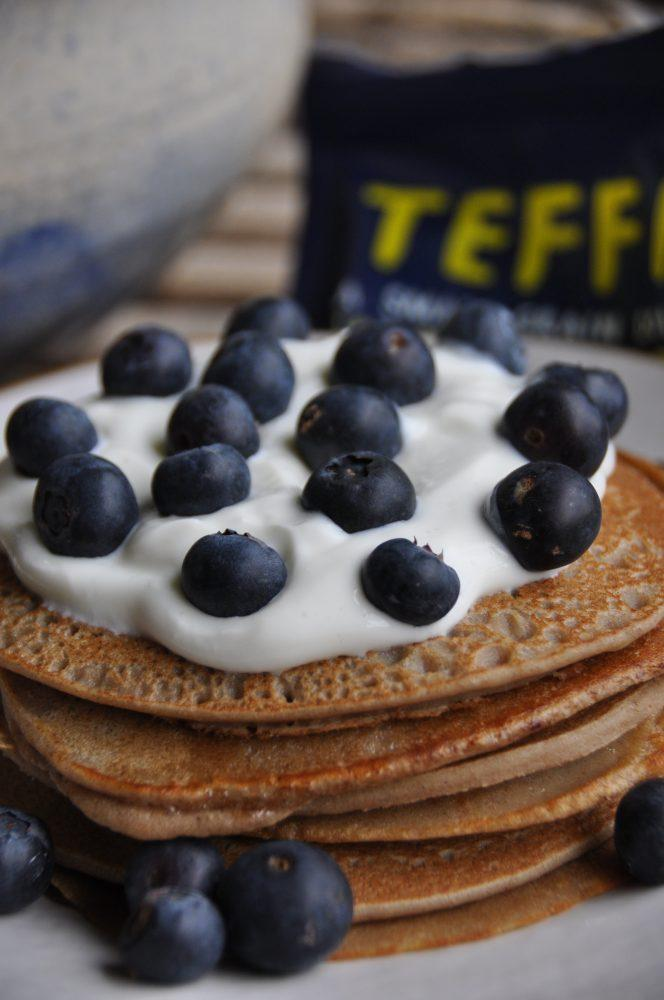 Cinnamon Teff Pancakes