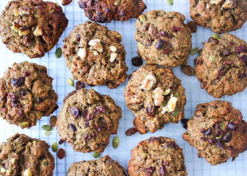 Chunky Trail Mix Teff Cookies