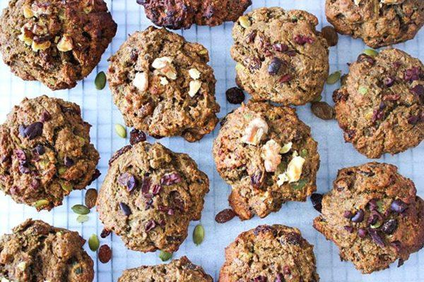 Chunky Trail Mix Teff Cookies